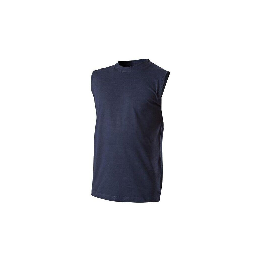 Pánské tričko bez rukávů modré navy č. M 3d1fd129f2