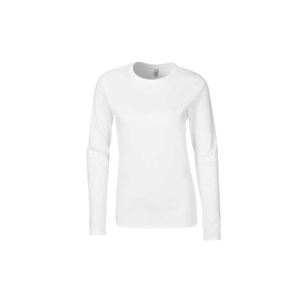 Dámské tričko dlouhý rukáv bílé č. S 8e34929751